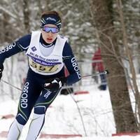 Olivier Léveillé s'entraîne depuis huit ans avec le club de ski de fond du Mont-Orford.