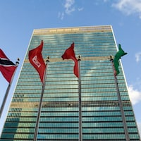 Le siège social de l'ONU à New York.