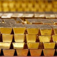 Des briques d'or.