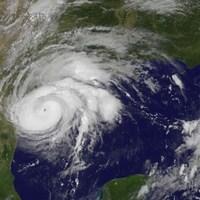 L'ouragan Harvey vu par un satellite de la NASA.