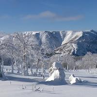 Le mont Albert sous la neige.
