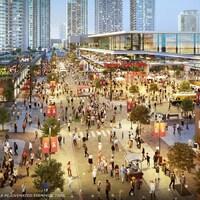 Plan fait par un artiste montrant le centre d'événements proposé pour remplacer le Saddledome dans le parc Victoria à Calgary.