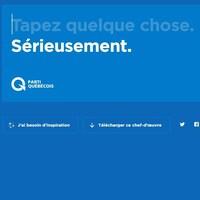 Le site web plagiant la signature visuelle du Parti québécois.