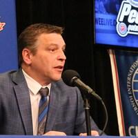 Le directeur du Tournoi international de hockey pee-wee de Québec Patrick Dom