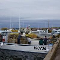 Les pêcheurs se préparent pour le début de la saison de pêche au homard dans la zone 25 dans les maritimes.