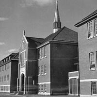 Le pensionnat de Kamloops, en 1970.