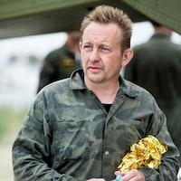 Peter Madsen, en uniforme militaire.