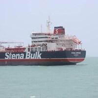 Le pétrolier britannique Stena Impero sur les flots