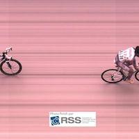 Photo-finish de la 6e étape du Tour de l'Abitibi, en 2011.