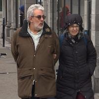 Pierre Champoux et sa sœur Danielle qui agit à titre d'aidante naturelle.
