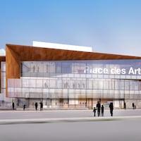 Design de la facade de la Place des Arts.