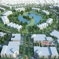 Une image conceptuelle montrant le développement du site.