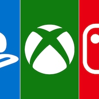 Les logos de PlayStation, de Xbox et de la Switch.