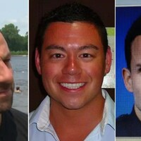 Montage photo montrant des portraits des trois agents.