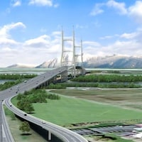 Le projet de pont qui remplacerait le tunnel George Massey a été mis de côté en 2017.