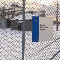 Le poste électrique Bégin est situé dans le secteur est de Baie-Comeau.