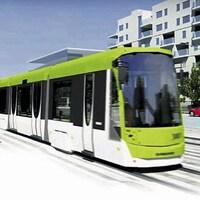 Esquisse du projet de tramway à Québec.