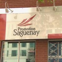 La devanture des bureaux de Promotion Saguenay.