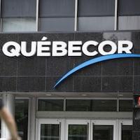 L'édifice de Québecor à Montréal.