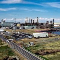 Vue d'ensemble de la raffinerie Sturgeon.