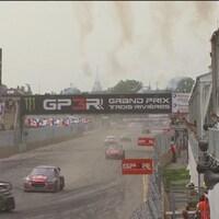Course de rallycross au Grand Prix de Trois-Rivières.