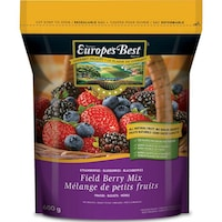 Un sac de mélange de petits fruits congelés Europe's Best de format 600 g.