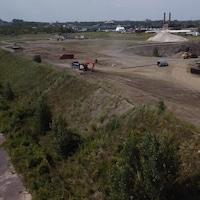 Le chantier de Ray-Mont Logistiques.