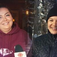 Montage photo de deux femmes en entrevue