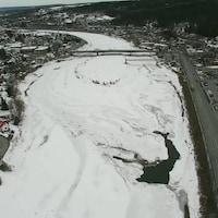 La rivière Chaudière en Beauce le 20 mars 2020