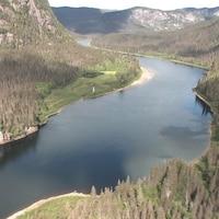 La rivière Moisie vue des airs