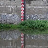 Le niveau de la rivière Saint-François à Sherbrooke.