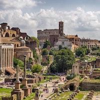 Ruines de la civilisation romaine à Rome.
