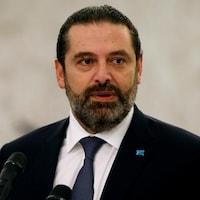 Plan rapproché de Saad Hariri.