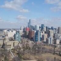 Une vue de la ville d'Edmonton.