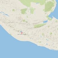 Carte du Guatemala.
