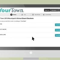 Un bulletin de vote en ligne.