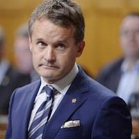 Gros plan sur Seamus O'Regan le 20 septembre 2018 à la Chambre des communes.