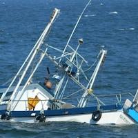 Le bateau Sea Star 4 s'est échoué à Sainte-Madeleine-de-Rivière-Madeleine