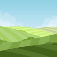 Images infographique de terres agricoles.