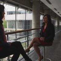 Catherine Mercier et Émilie Gaillard en conversation.