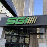 L'enseigne SGI du bureau de la Société d'assurance automobile de la Saskatchewan à Regina