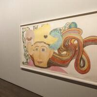 Une oeuvre de Shuvinai Ashoona à la galerie.