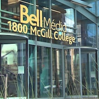 La façade du siège social de Bell Media, à Montréal.