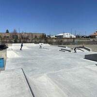 Le skate park d'Amos.