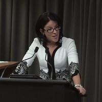 L'ex-procureure en chef de la commission Charbonneau, Sonia LeBel