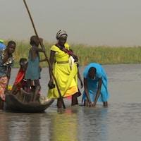 Le village de Ganiyel est entouré de marécages. Il est d'ailleurs souvent inondé.