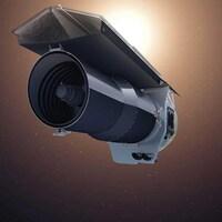 Illustration montrant le télescope Spitzer en orbite autour de la Terre.