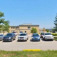 Le stationnement à l'Hôpital de l'Enfant-Jésus RHSJ†, à Caraquet.
