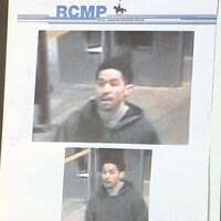 Des images du suspect révélées par la police.