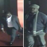 Images de caméra de surveillance des suspects qui sont recherchés.